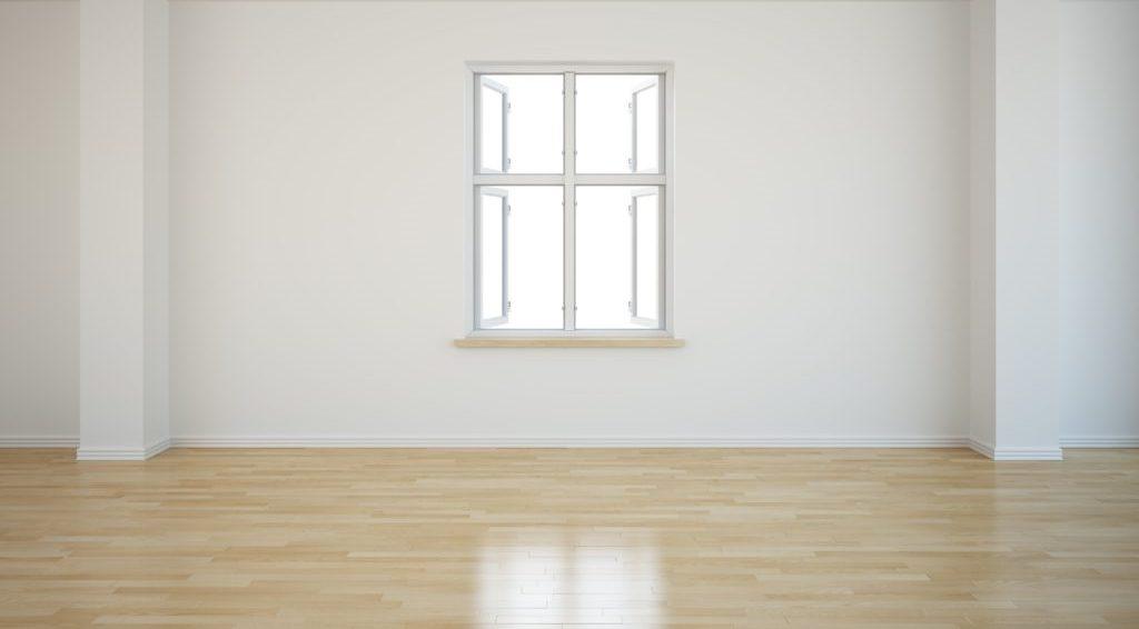 窓のある部屋のフローリング