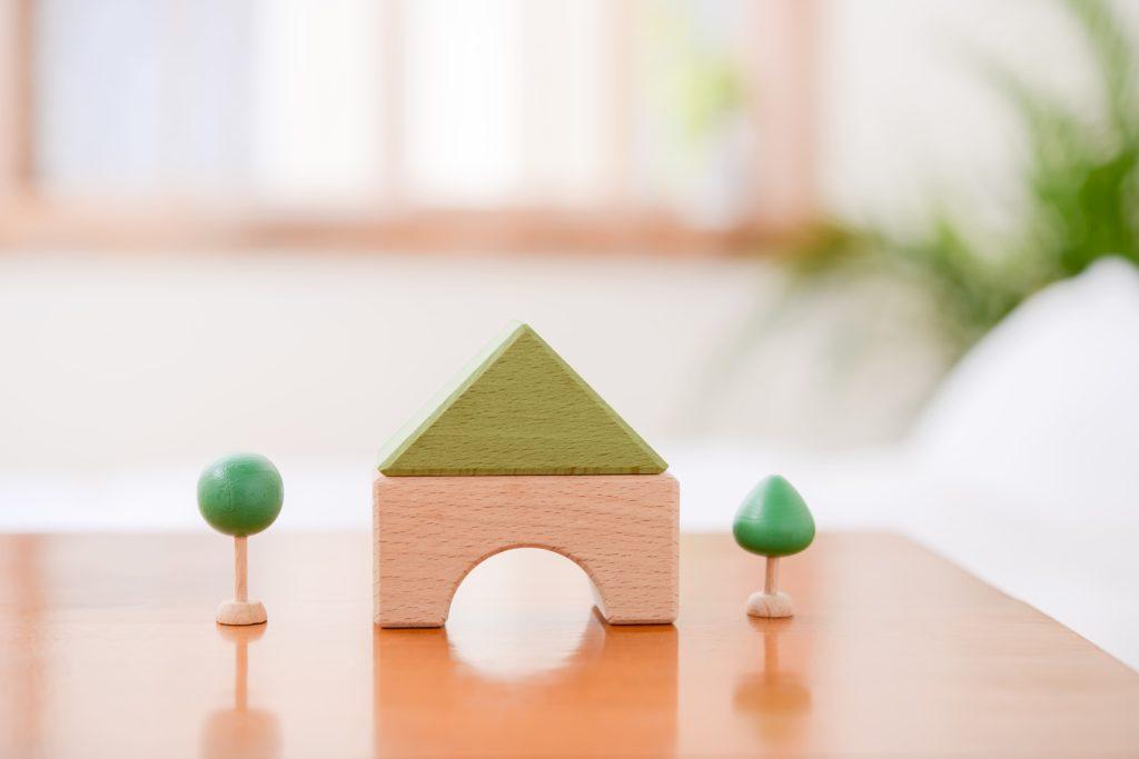リビングの家の模型