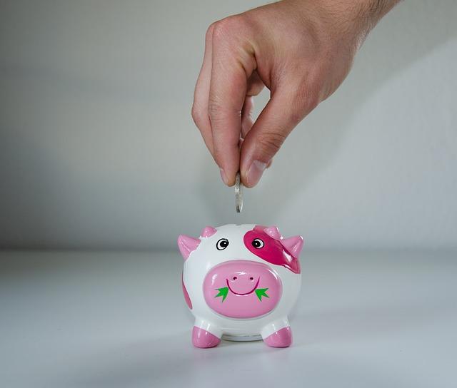 豚の貯金箱で節約